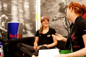 Aoife Glass Interviewing Rachel Atherton