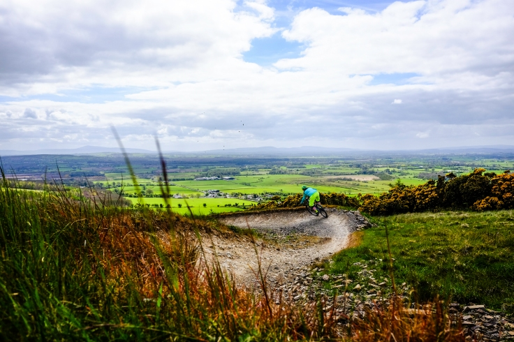 Fun on the red run at Bike Park Ireland. Copyright Phil Hall